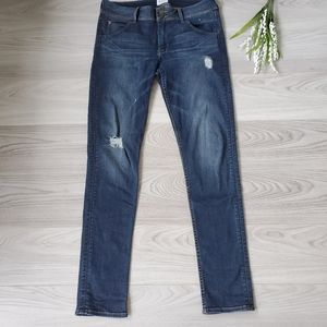 HUDSON dark wash distressed skinny jeans